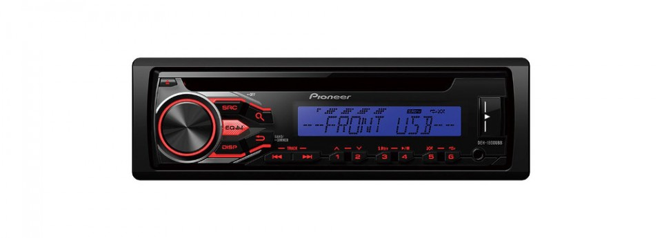 Player auto Pioneer DEH-1800UBB, 4x50W, USB, AUX, CD, Android, panou frontal detasabil