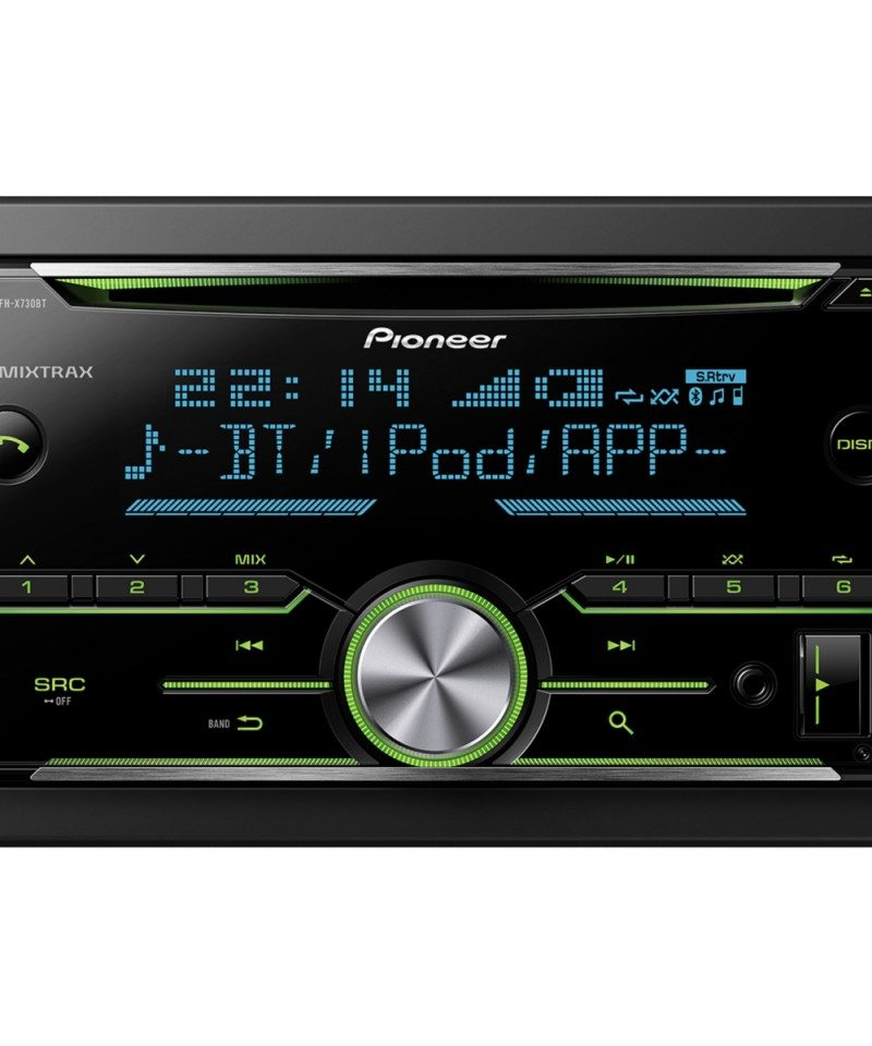 Player auto Pioneer FH-X730BT, 4 x 50W, 2DIN, AUX In, USB, Bluetooth, 2 perechi de iesiri RCA, iPod/iPhone si Android compatibil