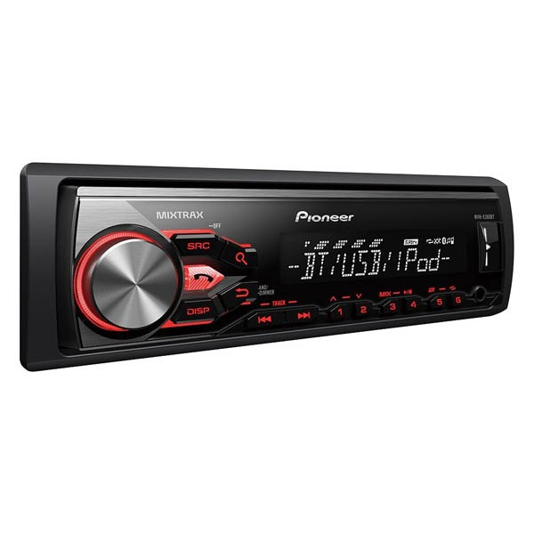 Player auto Pioneer MVH-X380BT, 4x50W, USB, Bluetooth, AUX, iPod/iPhone, Android, panou frontal detasabil