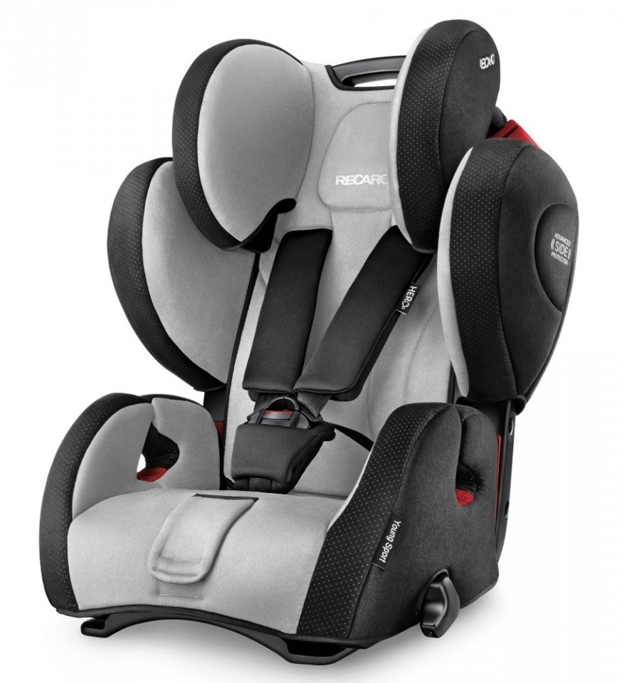 Scaun auto Recaro Young Sport Hero Graphite ,recomandat copiilor cu varsta de 3-12 ani si greutatea de 9-36 kg