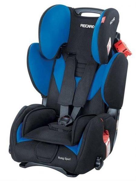 Scaun auto Recaro Young Sport Saphir recomandat copiilor cu varsta intre 9-12 ani si greutate 9 - 36 kg