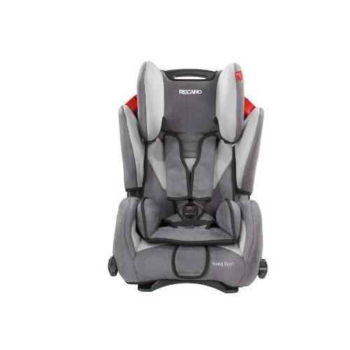 Scaun auto Recaro Young Sport Shadow, recomandat copiilor intre 9 luni - 12 ani si greutatea 9 - 36 kg