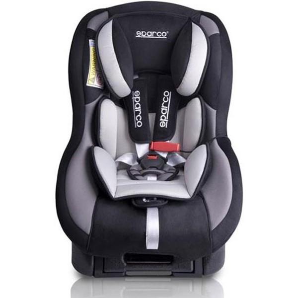 Scaun auto Sparco F500K Gri recomandat copiilor 0-18 kg si varsta 9 luni-4 ani