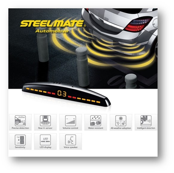 Senzori de parcare Steel Mate PTS410M7-13