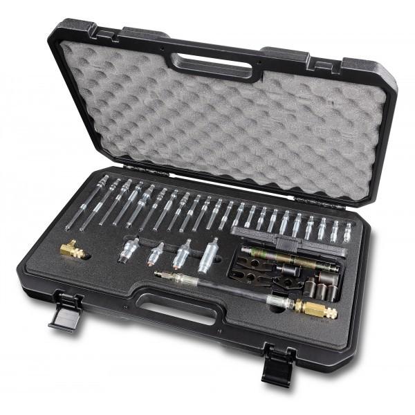 Set complet de accesorii pentru masurarea presiunii si compresiei motoarelor diesel cu testerul 1464T. Beta 1464IC