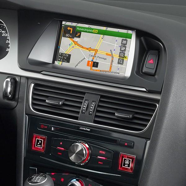 "Sistem de navigatie dedicata Alpine X701D-A pentru Audi A4 2005-2015 si Audi A5 2007-2016, ecran 7"", CD, Bluetooth, USB, Tunner tv, AUX, Harta Full..."