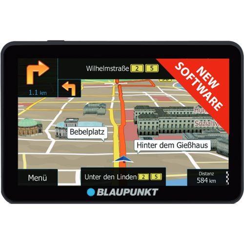 Sistem de navigatie portabil 7 inch Blaupunkt TravelPilot 74 T EU LMU soft camion, Tom Tom Truck.Bluetooth, TCM Activ si Avertizare benzi.