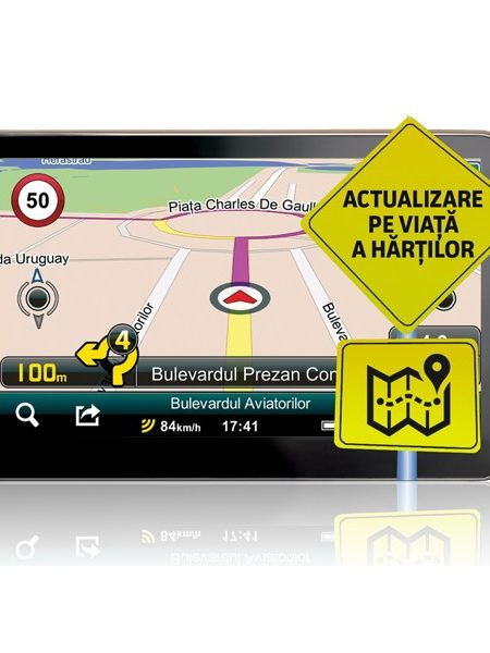 Sistem de navigatie portabil Smailo HD 5.0, diagonala 5.0?, harta Full Europe + actualizari gratuite pe viata