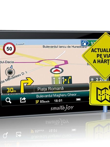 Sistem de navigatie portabil Smailo Joy, diagonala 4.3?, harta Full Europe + actualizari gratuite pe viata
