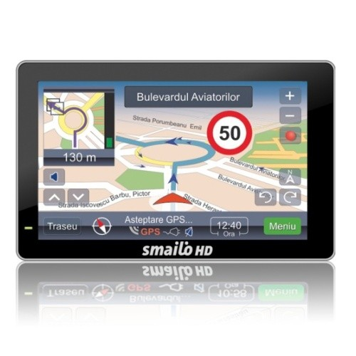 Sistem de navigatie Smailo HD 5.0, diagonala 5.0?, harta Romania