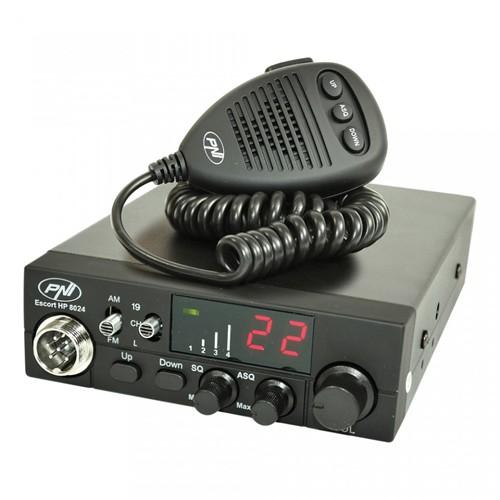 Statie radio auto CB PNI Escort HP 8024 ASQ reglabil alimentare 12V-24V