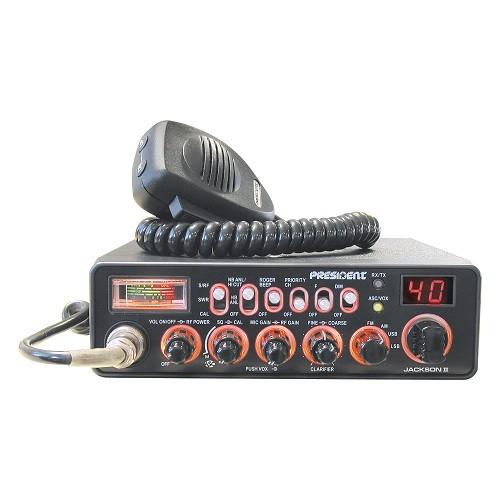 Statie radio auto CB President Jackson II ASC, cu squelch automat