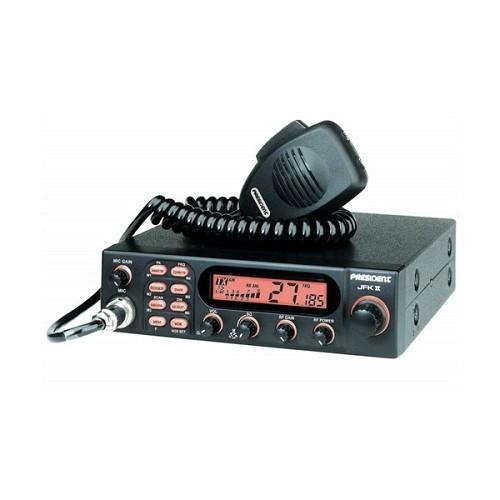 Statie radio auto CB President JFK II ASC 40 CH, AM/FM, Multi Norme, Scan, PA, Roger Beep, SWR/Power reflectometru