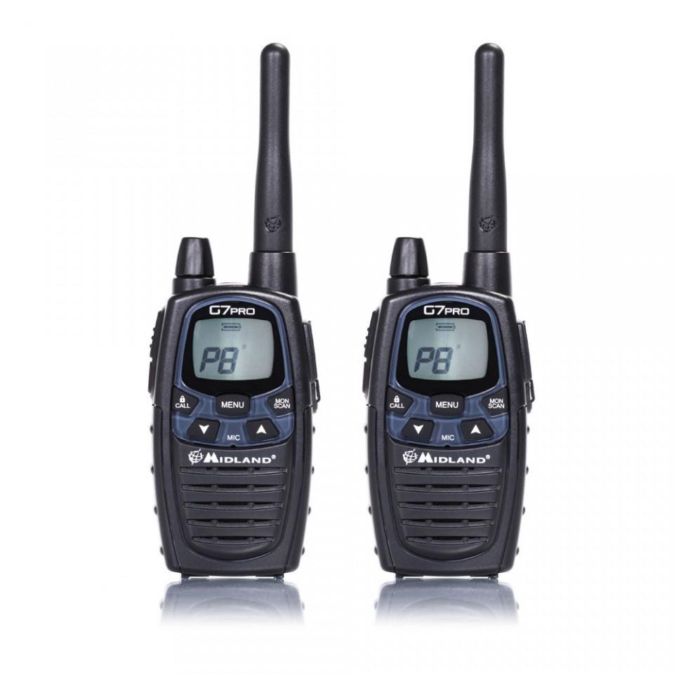 Statie radio PMR/LPD portabila Midland G7 PRO model 2015 set cu 2bc Cod C1090
