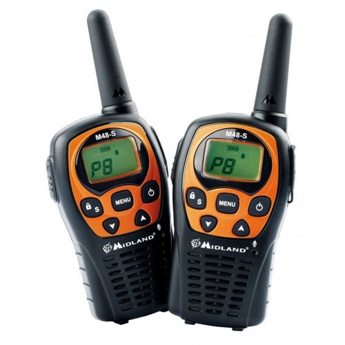 Statie radio PMR portabila Midland M48-S set cu 2bc