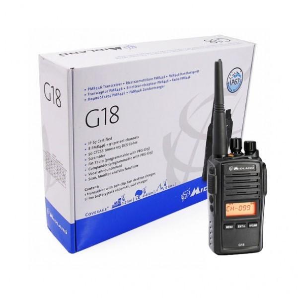 Statie radio portabila PMR446 Midland G18 waterproof IP67 Cod C1145