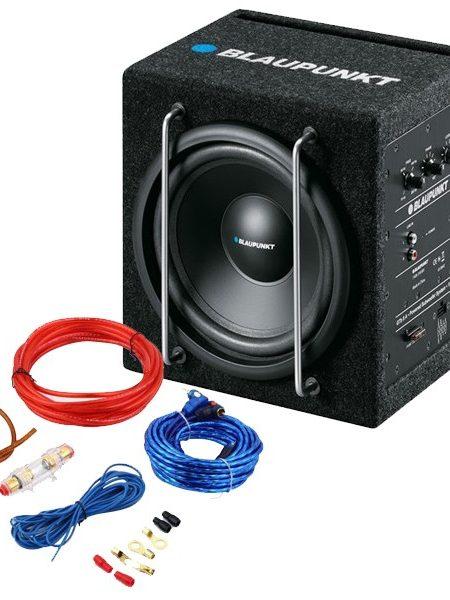 Subwoofer activ Blaupunkt GTb 8200 A, 150 W + Cabluri 8mm CADOU