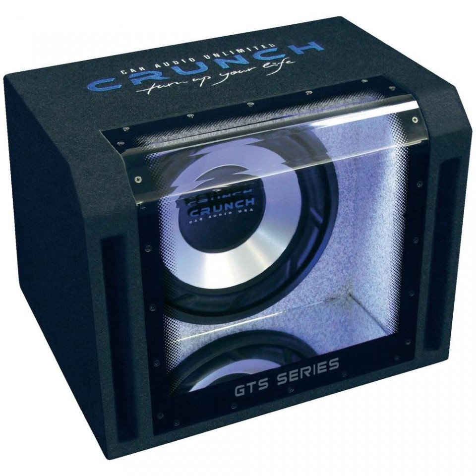 Subwoofer auto pasiv cu incinta Bandpass Crunch GTS-400, 400W RMS