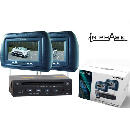 Tetiere auto cu DVD player cu montaj ascuns In phAase IVM 7PK